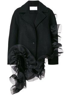 асимметричное пальто с оборками Roberts Wood