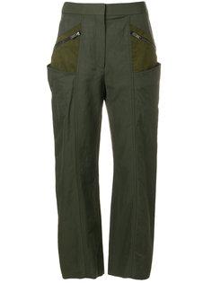 укороченные брюки с контрастными карманами  Stella McCartney