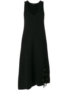асимметричное платье со шнуровкой  Neil Barrett