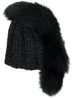 шапка с меховой отделкой Ca4la