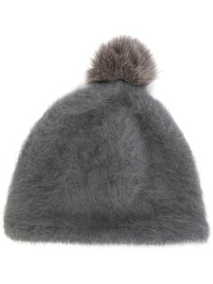 шапка с меховым помпоном Ca4la