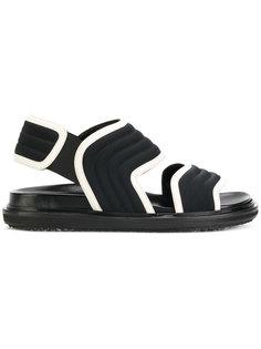 сандалии с ребристой фактурой Marni