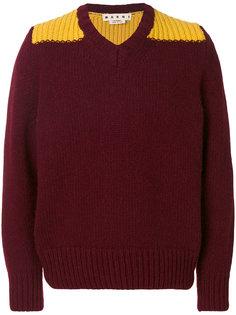свитер с V-образным вырезом Marni
