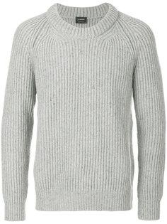 свитер ребристой вязки Jil Sander