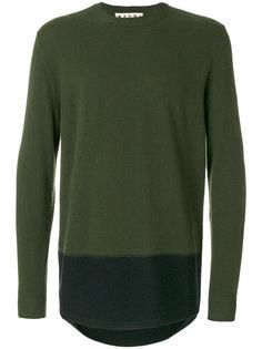 двухтональный свитер Marni