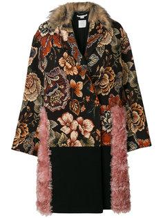 пальто с контрастными вставками Stella McCartney