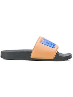 сандалии с принтом логотипа MSGM