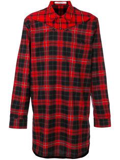 удлиненная рубашка в клетку Givenchy