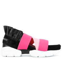 кроссовки с контрастными ремешками Emilio Pucci