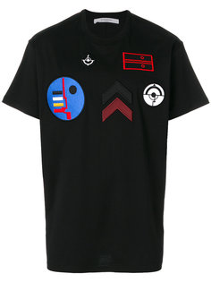 футболка с вышитыми заплатками Givenchy