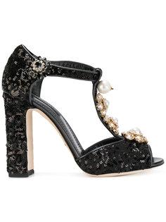 туфли с кристаллами и пайетками Dolce & Gabbana