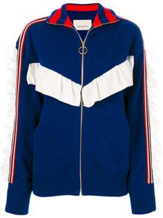 свитер на молнии с полосками Laneus
