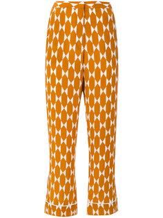 укороченные брюки с рисунком Tory Burch