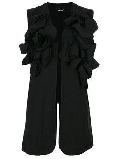 пиджак без рукавов с аппликацией Comme Des Garçons