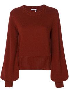 пуловер с объемными рукавами  Chloé
