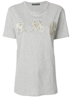 футболка с блестящими аппликациями Alexander McQueen