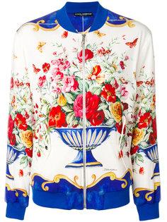куртка-бомбер с рисунком Majolica Dolce & Gabbana