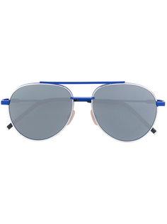 солнцезащитные очки-авиаторы с зеркальными линзами Fendi Eyewear