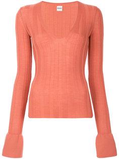 свитер с V-образным вырезом Khaite