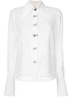 полупрозрачная рубашка с воротником  A.W.A.K.E. Awake