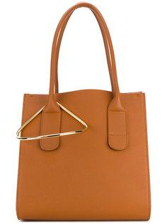 сумка-тоут с металлической деталью Roksanda