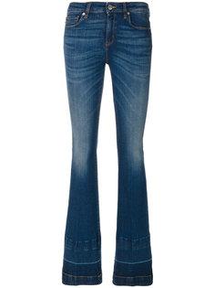 расклешенные джинсы с эффектом потертости Love Moschino