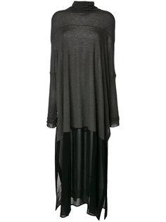длинное платье с высоким воротником Lost & Found Ria Dunn