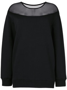 свитер с сетчатой отделкой  Mm6 Maison Margiela