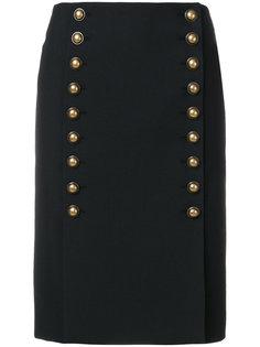 юбка с рядами пуговиц спереди Saint Laurent
