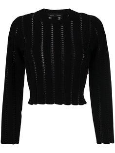 укороченный свитер с вышивкой Proenza Schouler