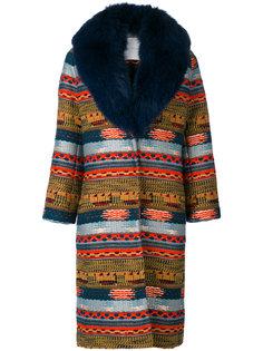 пальто с меховым воротником Giada Benincasa