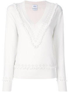 текстурный свитер с V-образным вырезом Barrie