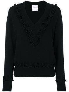 свитер с V-образным вырезом с текстурными деталями Barrie