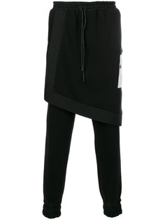 спортивные брюки с накладной панелью D.Gnak