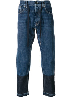 укороченные джинсы с вышивкой  Andrea Pompilio