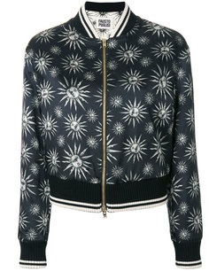 куртка-бомбер с принтом символов солнца Fausto Puglisi