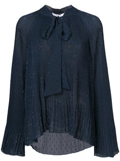 плиссированная блузка с отделкой в виде шарфа Derek Lam 10 Crosby