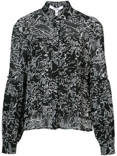 плиссирванная рубашка на пуговицах Derek Lam 10 Crosby
