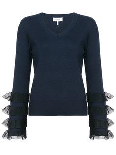 свитер с оборками и V-образным вырезом Derek Lam 10 Crosby