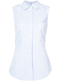 Sleeveless Button-Down Shirt With Lace Up Back Derek Lam 10 Crosby