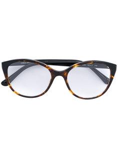 крупные очки с эффектом черепашьего панциря Giorgio Armani
