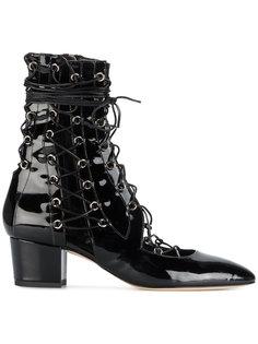 ботинки из лакированной кожи на шнуровке Drury Lane  Liudmila