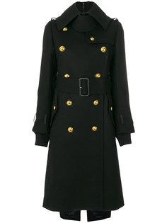 пальто в стиле милитари с поясом Sacai