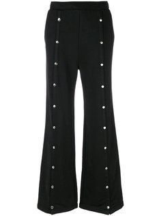 брюки клеш с заклепками T By Alexander Wang