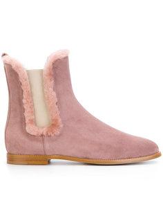 ботинки-челси с меховой отделкой Unützer
