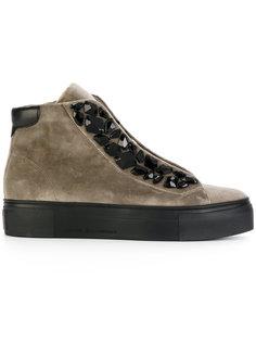 кроссовки на шнуровке с украшением из камней Kennel&Schmenger Kennel&Schmenger