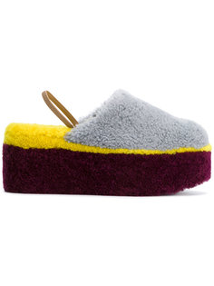 сандалии на платформе колор-блок Fendi