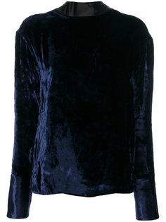 бархатная блузка с открытой спиной  Maison Margiela