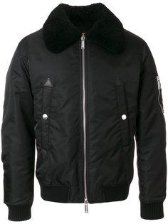 куртка бомбер с объемным воротником Dsquared2