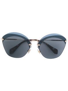 солнцезащитные очки в объемной оправе Miu Miu Eyewear